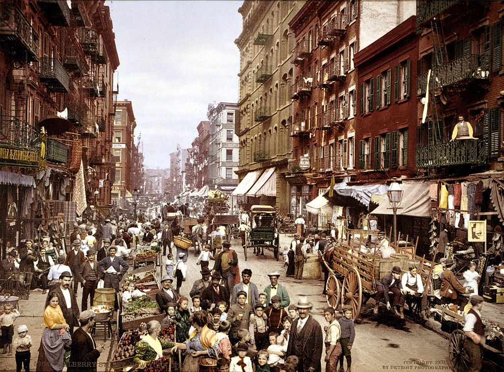 Mulberry Street (Little Italy), NYC, vers 1900 [DP]