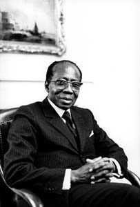 Leopold Sedar Senghor en 1987 (ph. photo Erling Mandelmann [CC BY-SA 3.0]