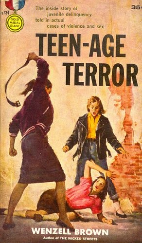Couverture de Teen-Age Terror, 1958 (illustration de James Meese) [domaine public]