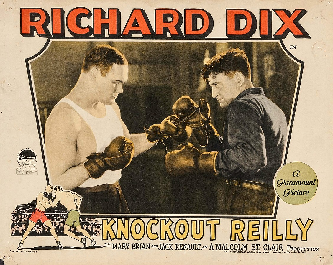 Lobby card du film Knockout Reilly (Paramout 1927) [domaine public]