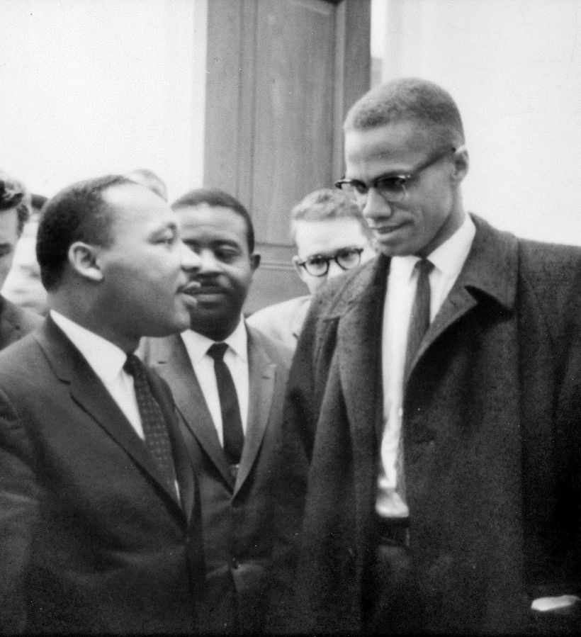 Martin Luther King et Malcolm X en 1964 (ph. Marion S. Trikosko) [DP]