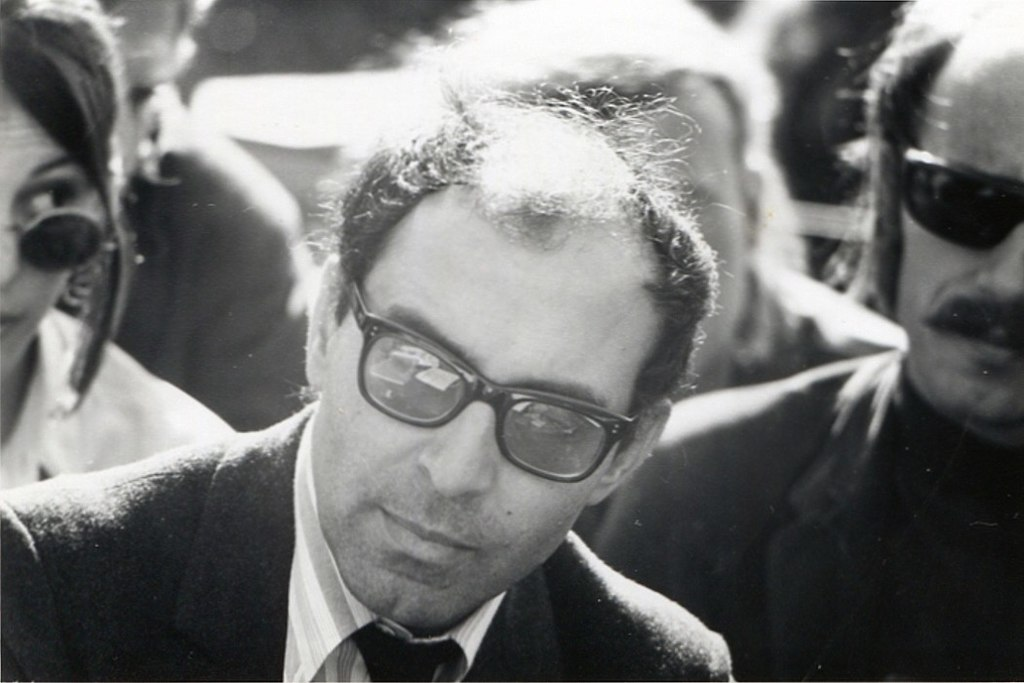 Jean-Luc Godard à l'Université de Berkeley en 1968 (ph. Gary Stevens) [CC BY 2.0]
